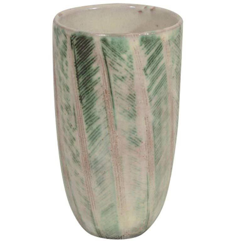 Nancy Wickham Studio Pottery Vase