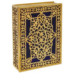 Art and Crafts  Gilt  Silver and Lapislazzuli Koran box