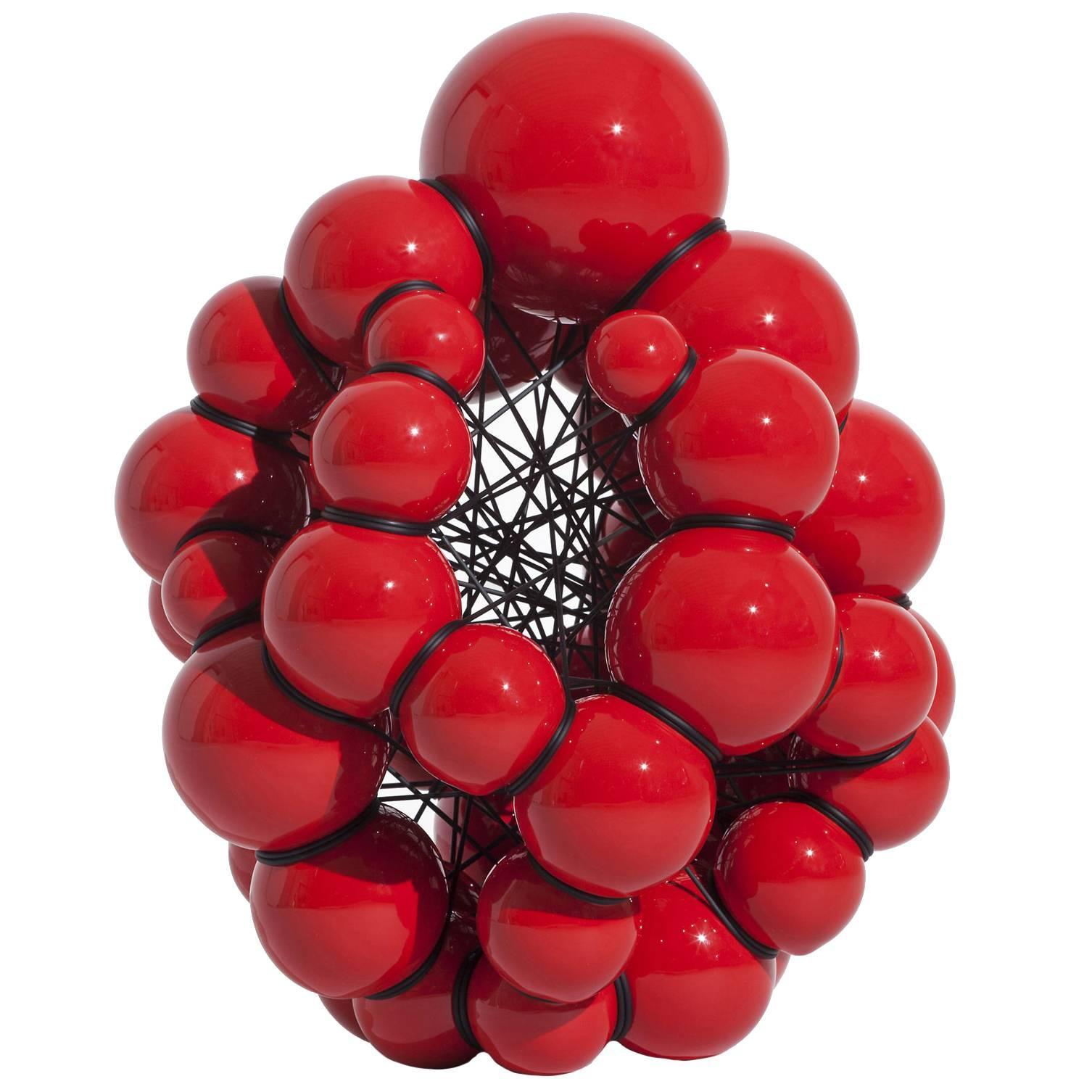 Modern Red Ceramic Sculpture by Steen Ipsen
