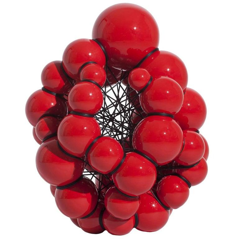 Modern Red Ceramic Sculpture by Steen Ipsen For Sale