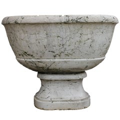 Italian neoclassical fountain in white marble