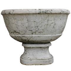 Italian neoclassical fountain in white marble
