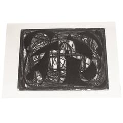 Large Alwin Carstens Contemporary Modern Abstract Woodblock Lithography
