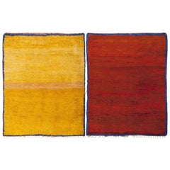 Vibrant Vintage Moroccan Double-Sided Rug. Size: 6 ft x 7 ft 6 in
