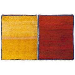 Vibrant Vintage Moroccan Double-Sided Rug