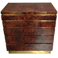 Jean Claude Mahey Burlwood Chest of Drawers
