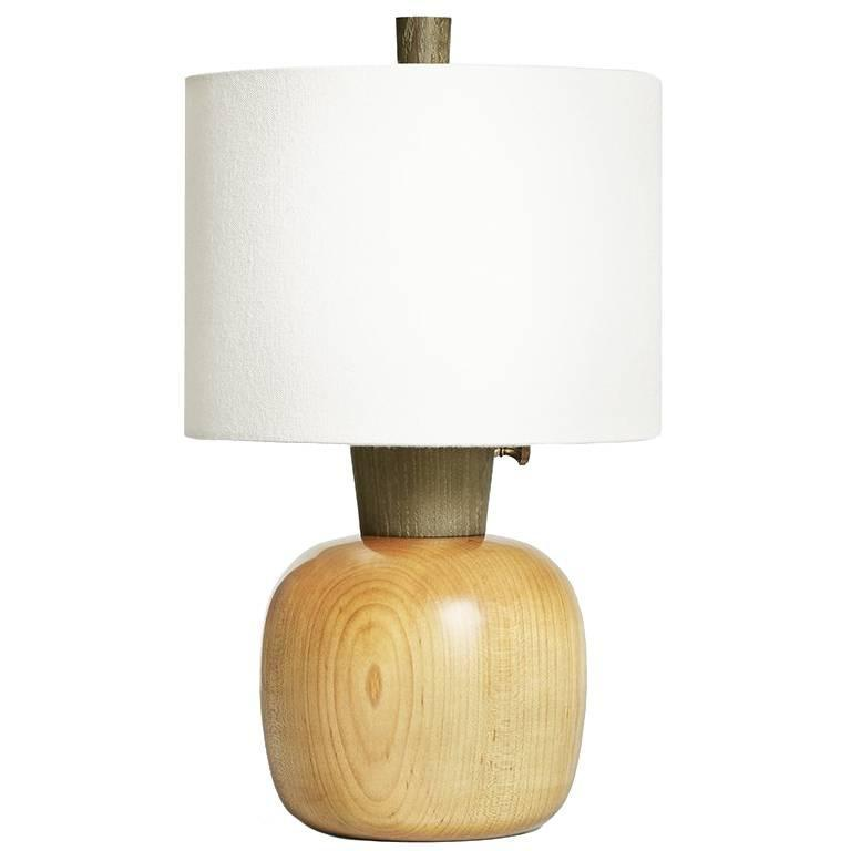 Marty II, Blond Maple and Dyed Ash Bedside Lamp