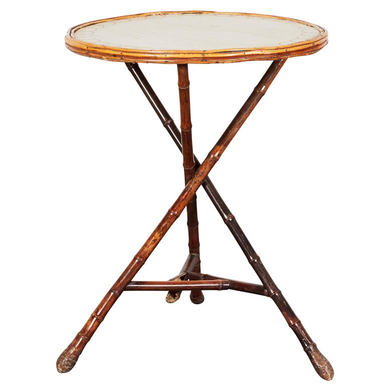 19th Century French Bamboo Tripod Table At 1stdibs