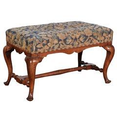 Queen Anne Style Walnut Bench