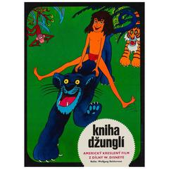 Jungle Book Original Czech Film Poster, Vratislav Hlavaty, 1974