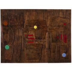 Victor Cerrato Unique Wooden Wall Panel