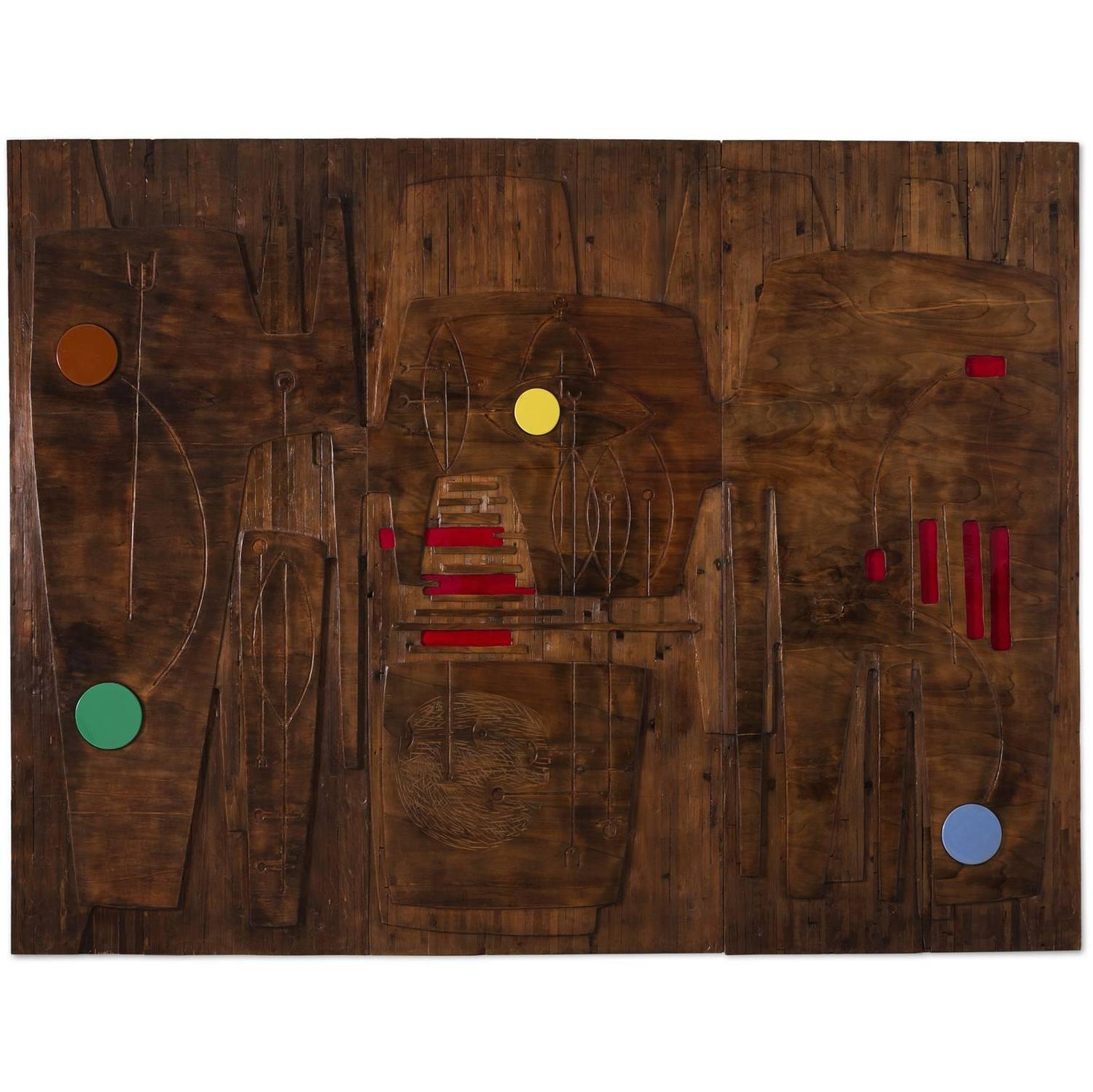 Victor cerrato unique wooden wall panel for sale at 1stdibs - Woven wood wall panels ...