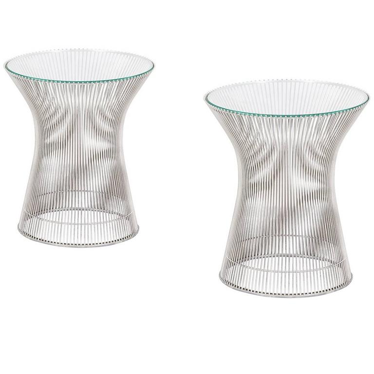 Warren Platner Steel Wire Side Table for Knoll at 1stdibs
