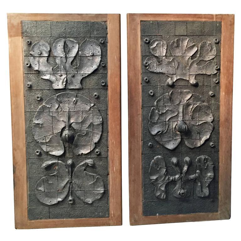 Yves Rhaye, Exceptional Sliding Doors with Ceramic Design, circa 1970