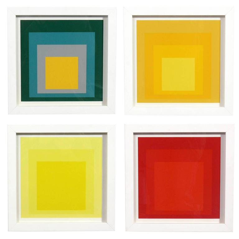 josef albers  u0026quot homage to the square u0026quot  suite of four at 1stdibs