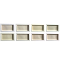 Suite of Eight White on White Embossed Engravings by Josef Albers