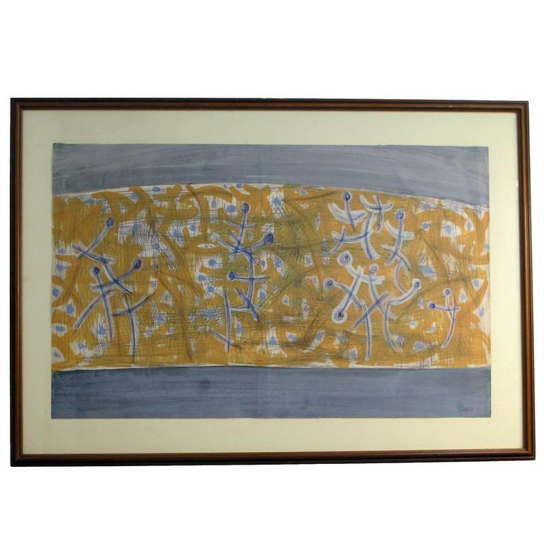 Mid-Century Abstract Painting by Robert Gilbert