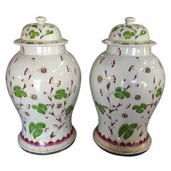 19th-20th Century Large Covered Jars in the Style of Samson
