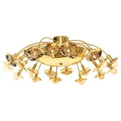 Twenty-Four-Light Paavo Tynell Ceiling Fixture
