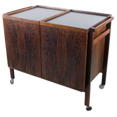 Rosewood Expansion Bar Cart by Niels Erik Glasdam Jensen