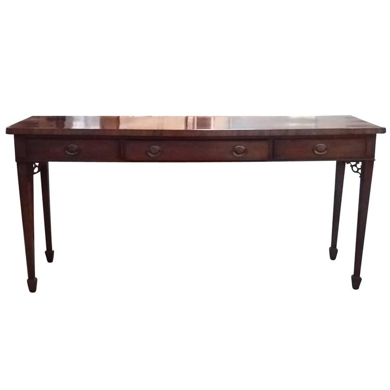 18th-19th Century English Regency Mahogany Serving Table For Sale