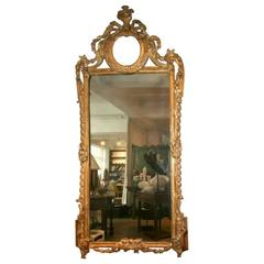 Louis XVI Gilt Mirror, 18th Century