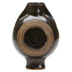 Studio Pottery Glazed Stoneware Moon Vase, 20th Century