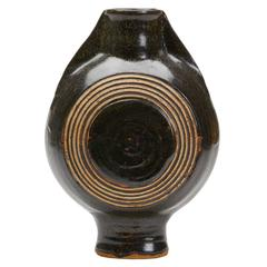 Studio Pottery Glazed Stoneware Moon Vase, 20th Century