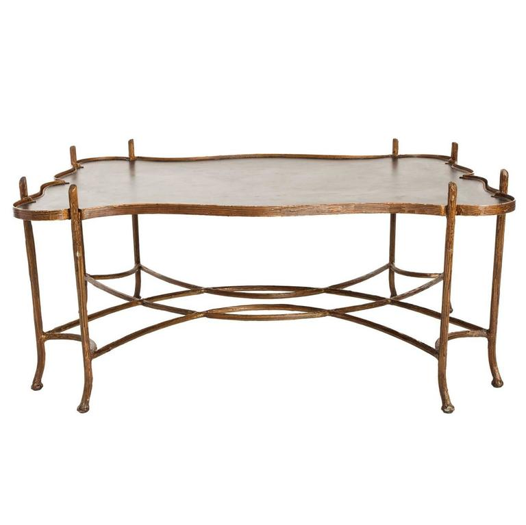 Faux bois coffee table at 1stdibs Table jardin imitation bois