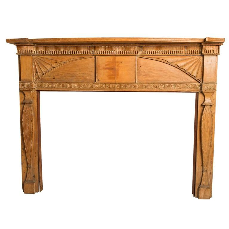 Federalist Style Pine Mantle For Sale