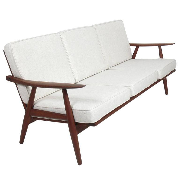 danish modern sofa by hans wegner for sale at 1stdibs. Black Bedroom Furniture Sets. Home Design Ideas