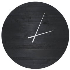"Large Charred Cedar Wood ""Water Tower Clock"""