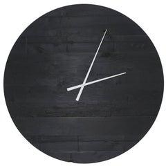 "Large Charred Cedar Wood ""Water Tower Clock"""