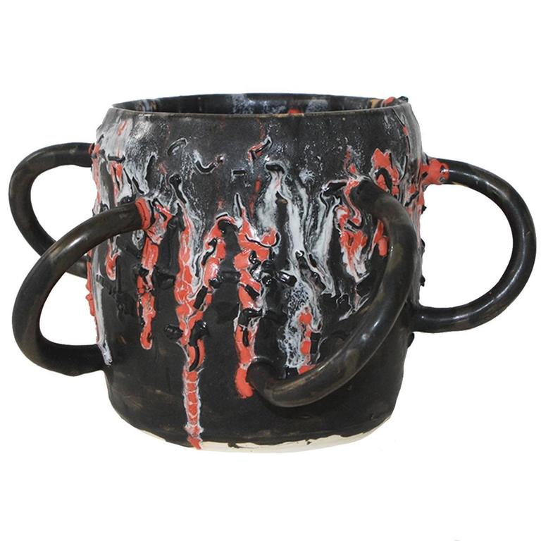 Ceramic Vessel by Manal Kara For Sale