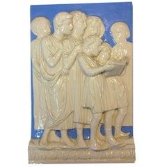 High Relief Neoclassical Della Robbia Plaque