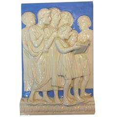 High Relief Neoclassical Della Robbia Plaque