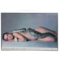 """Nastassia Kinski and the Serpent"", Signed by Richard Avedon"