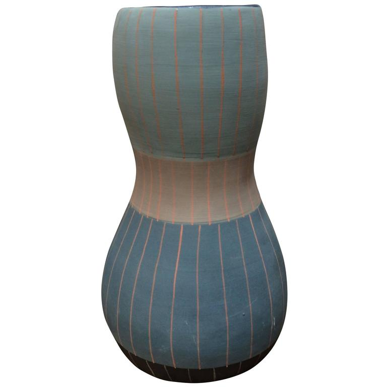 Vintage Inspired Design Vase, Thailand, Contemporary For Sale