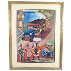 "Oil on Canvas Signed ""P. Freedman, 1974"""