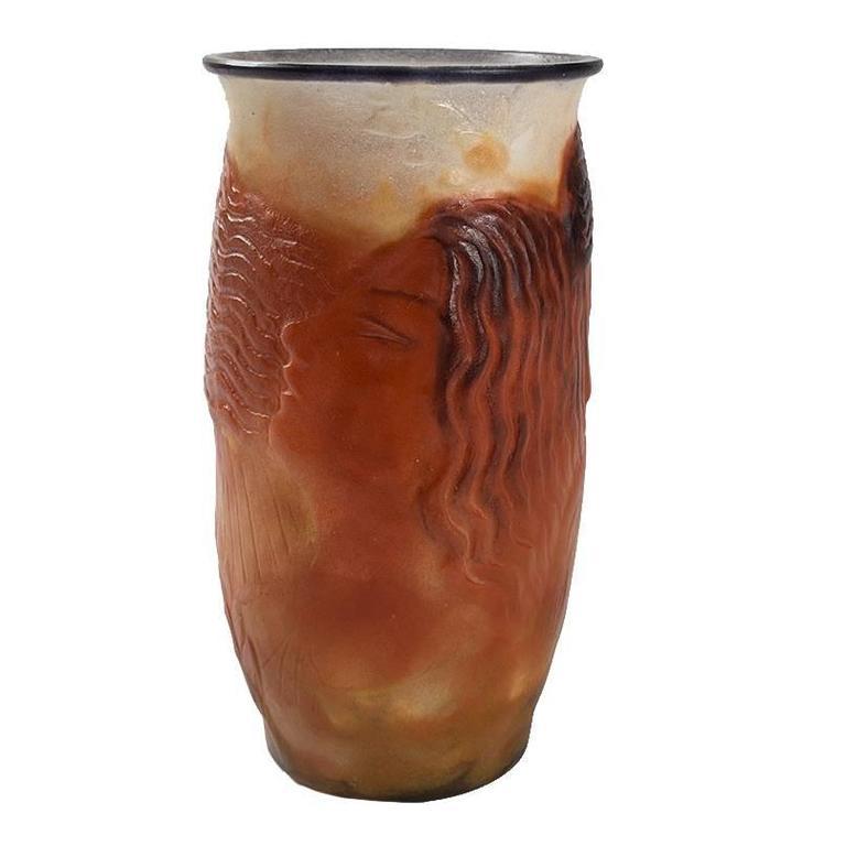 pate de verre vase by argy rousseau for sale at 1stdibs