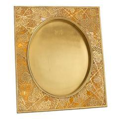 "Tiffany Studios New York Favrile Glass & Gilt Bronze ""Grape Vine"" Picture Frame"