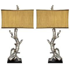 Silver Leaf Tree-Form Lamps