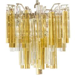 Mid-Century Venini for Camer Crystal Chandelier