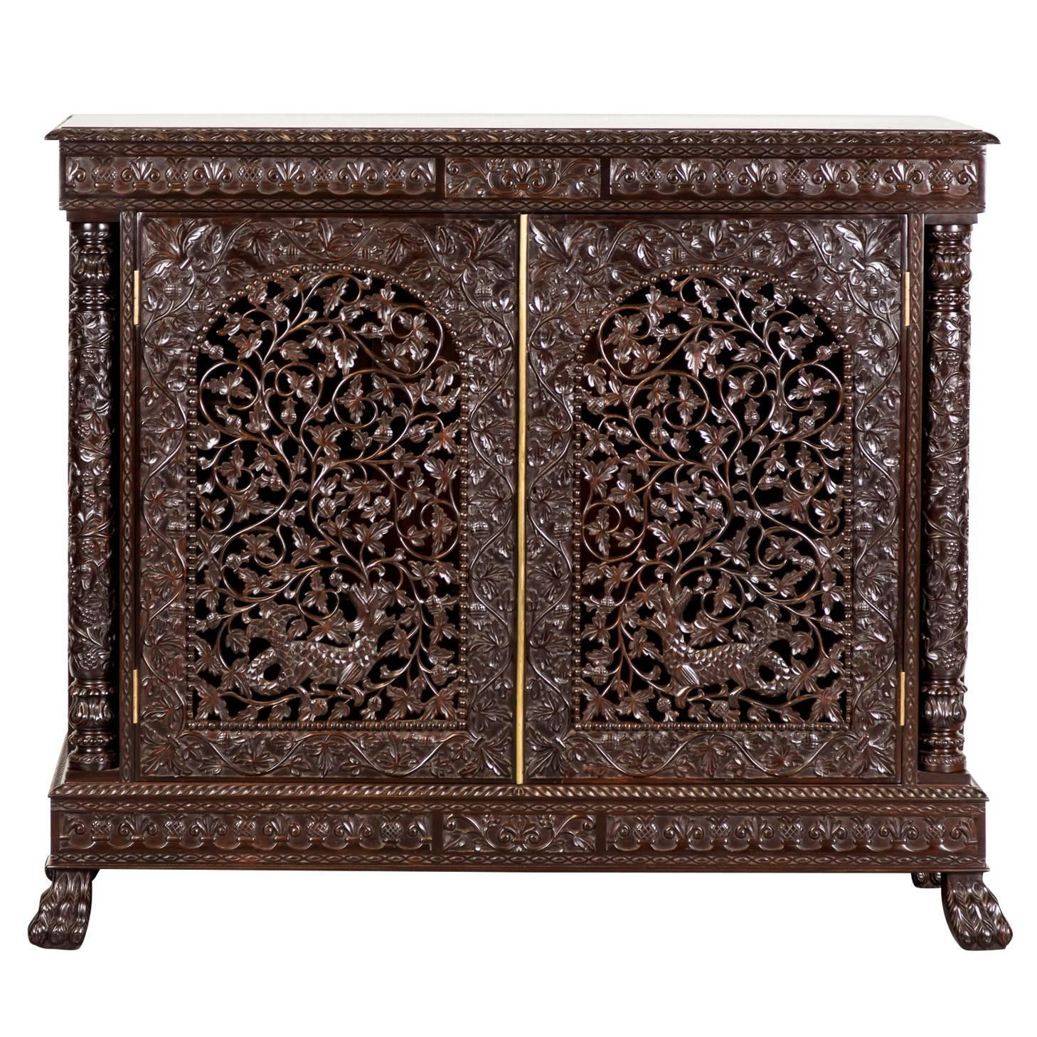Antique Anglo-Indian or British Colonial Rosewood Cabinet For Sale at  1stdibs - Antique Anglo-Indian Or British Colonial Rosewood Cabinet For Sale