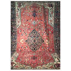 19th Century Heriz Serapi Rug from Iran