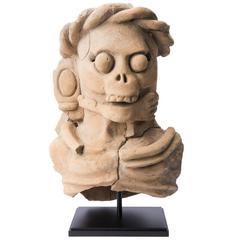 Mayan Terracotta Incense Censer, Guatemala, 600-900 A.D.