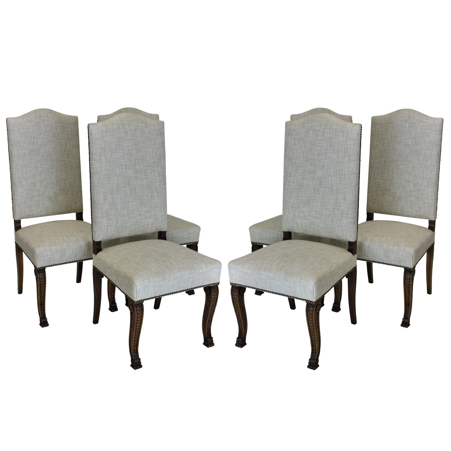 Six French High Back Dining Chairs For Sale At 1stdibs