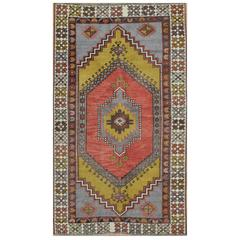 Vintage Hand-Knotted Tribal Rug