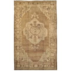 Vintage Hand-Knotted Turkish Rug