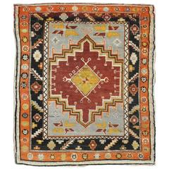 Vintage Tribal Turkish Anatolian Rug
